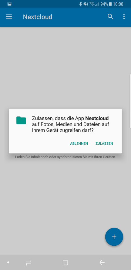 Nextcloud App für Android in Cloud Space - 05
