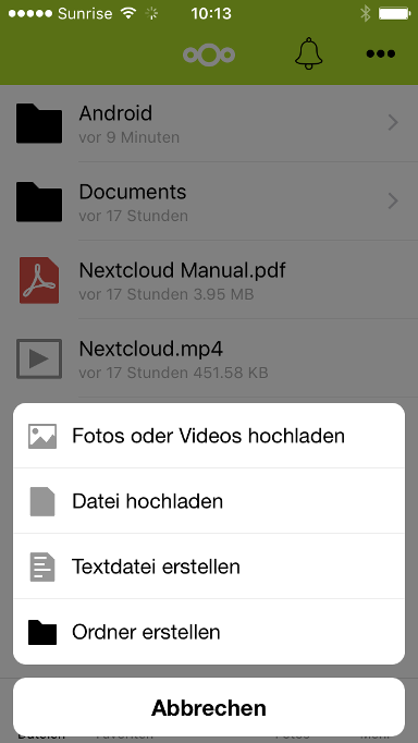 Nextcloud iOS App in Cloud Space - 06