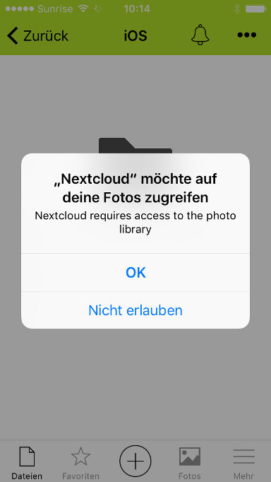 Nextcloud iOS App in Cloud Space - 07