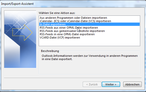 Outlook PST-Export - 03