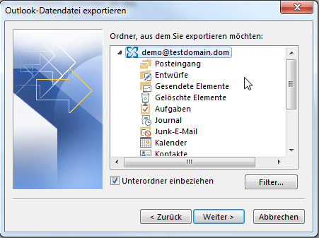 Outlook PST-Export - 05