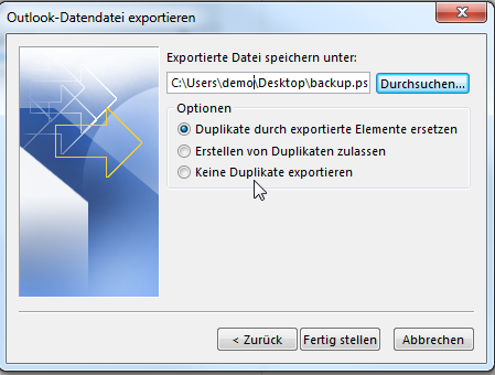 Outlook PST-Export - 06